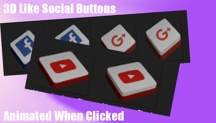 Social 3dLike Buttons