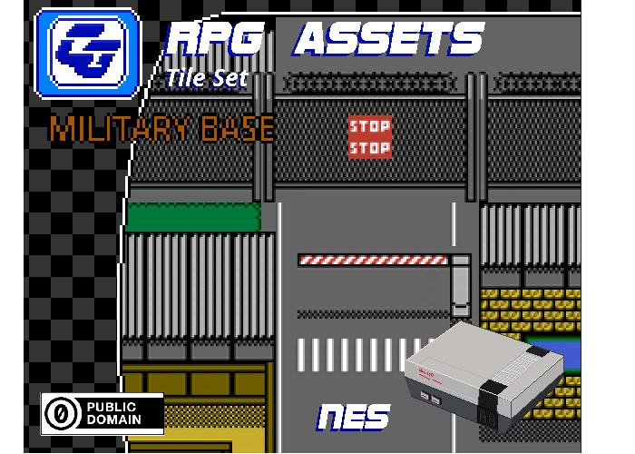 RPG Tile Set 'Military Base' NES