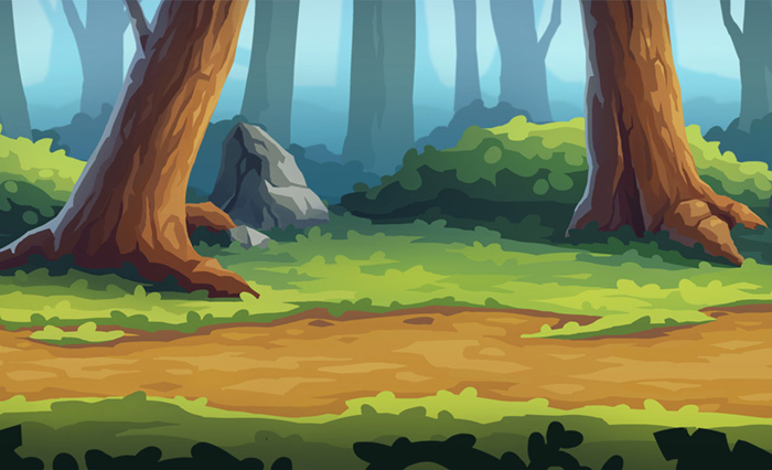 Forest Parallax Background