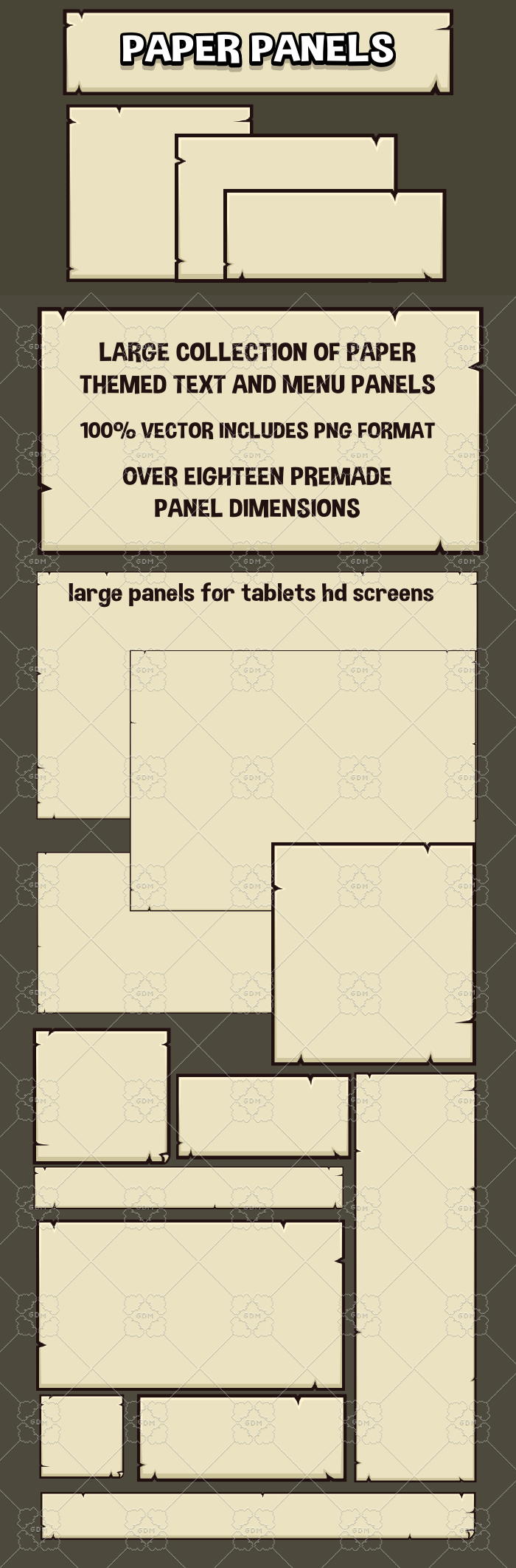 Paper panels