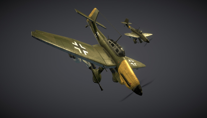 WW2 German Dive-Bomber JU87 Stuka