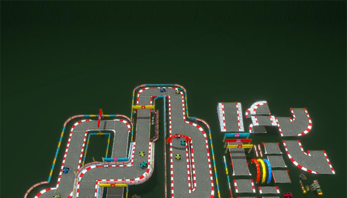 Modular Lowpoly Circuit Asset GoKart Racing