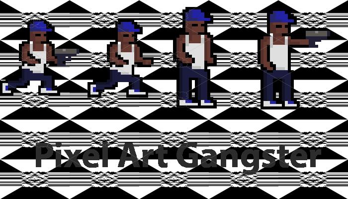 Pixel Art Gangster