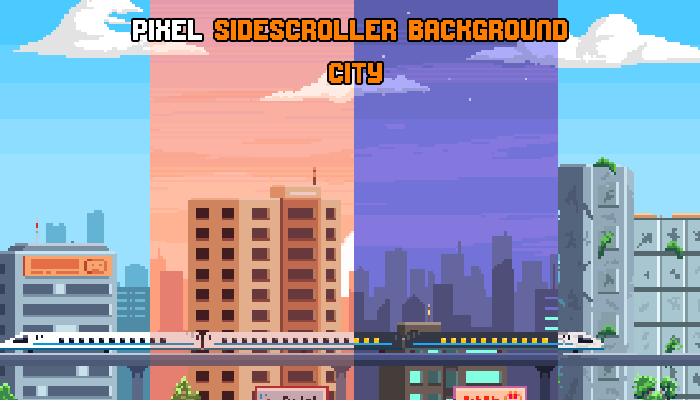 Pixel Sidescroller Background City