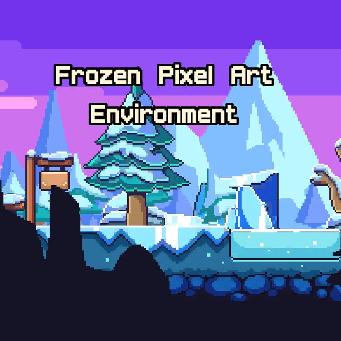 Frozen PixelArt Environment Asset