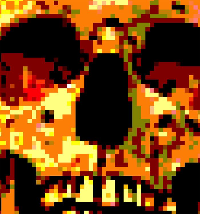 set of 3 skulls (100×100 pixels)