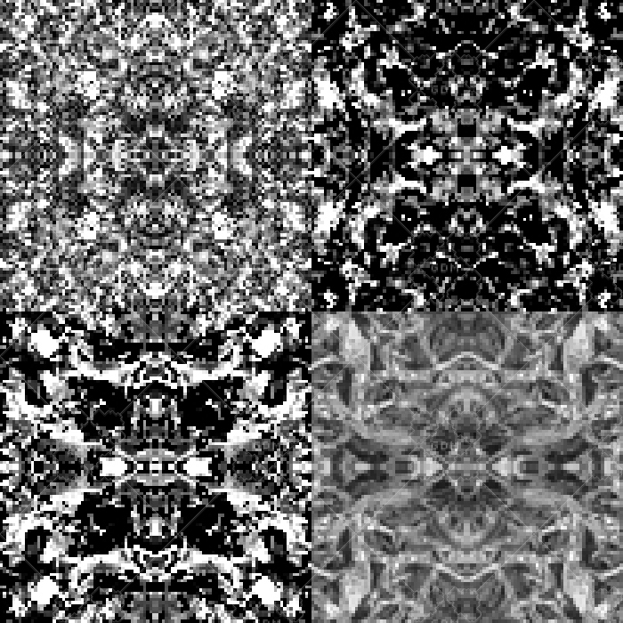 black and white abstract tile set (dimensions in 100 and 50 square pixels)