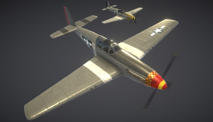 P51 Mustang WW2 US Fighter Aircraft