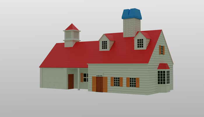 Vacation Home low poly