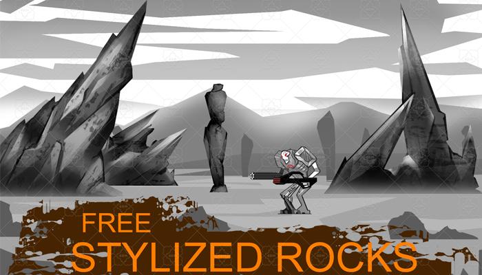Stylized rocks
