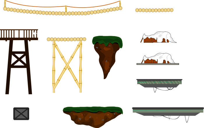 2D platforms set