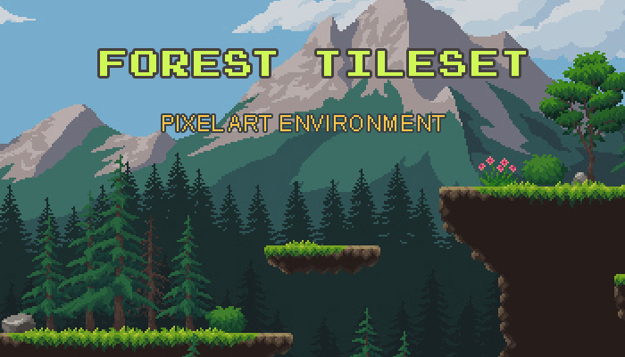 Forest Environment Pixel Art Tileset