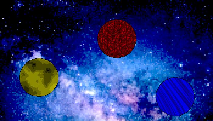3×5 Pixelart Planets (128×128 px)