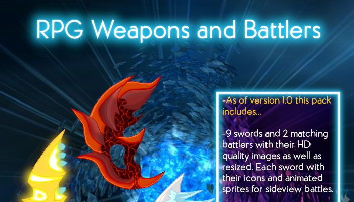 Fantasy RPG Weapons and Battlers