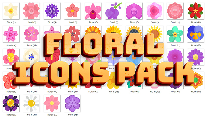Floral Icons Pack