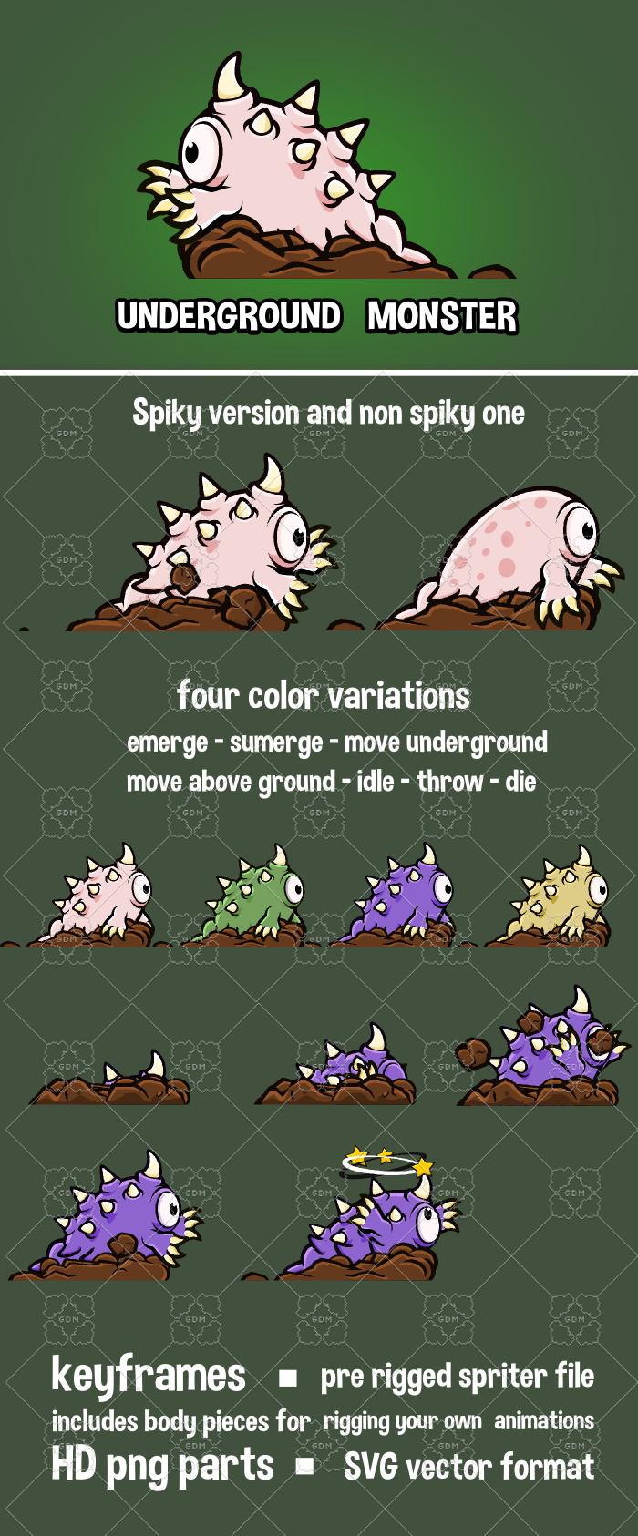 Underground monster