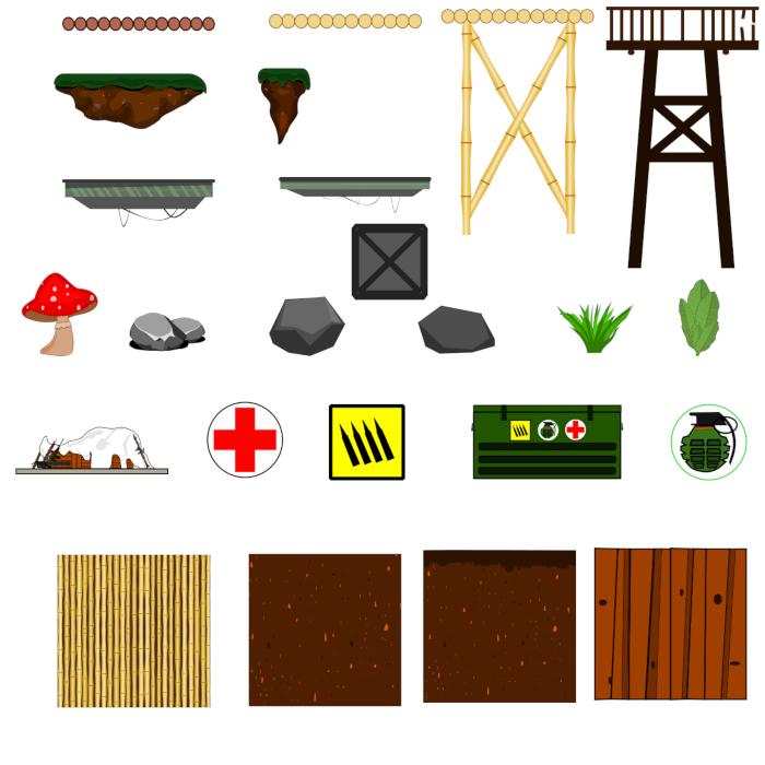 2D game assets kit