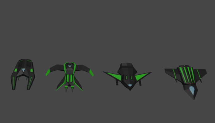 Spacefighters Collection Low-Poly