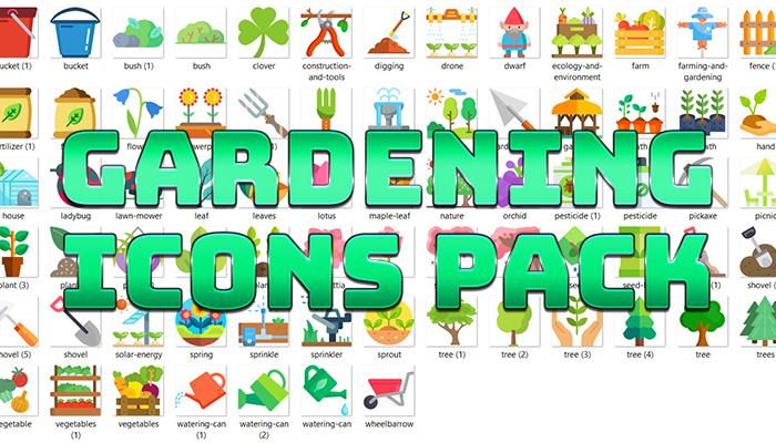 Gardening Icons Pack
