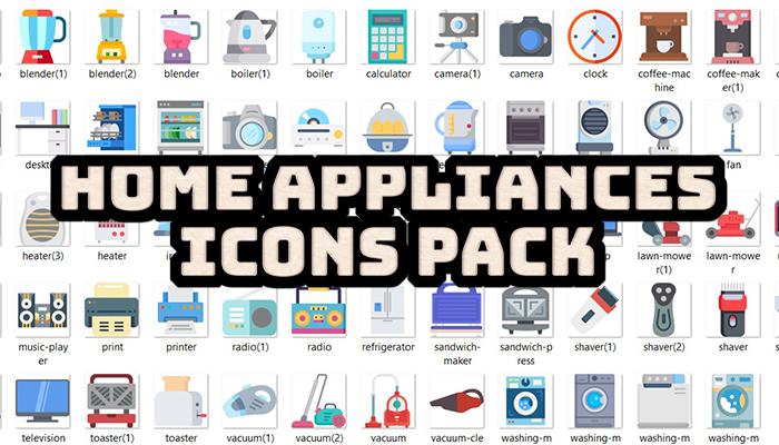 Home Appliances Icons Pack