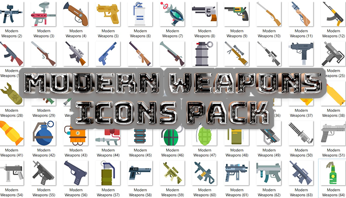 Modern Weapons Icons Pack
