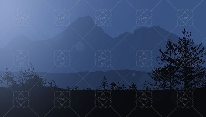 Mountain at Night Background