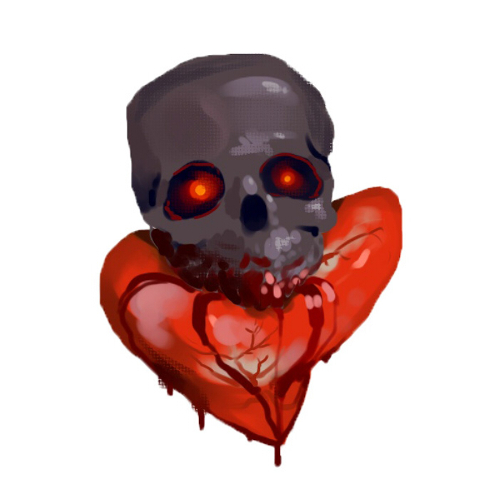 Skull-Heart Health Bar