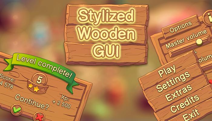 Stylized Wooden UI