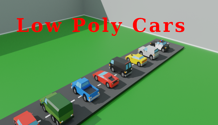 Low poly cars pack