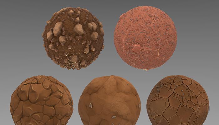Stylized Dirt Ground Materials Vol 01