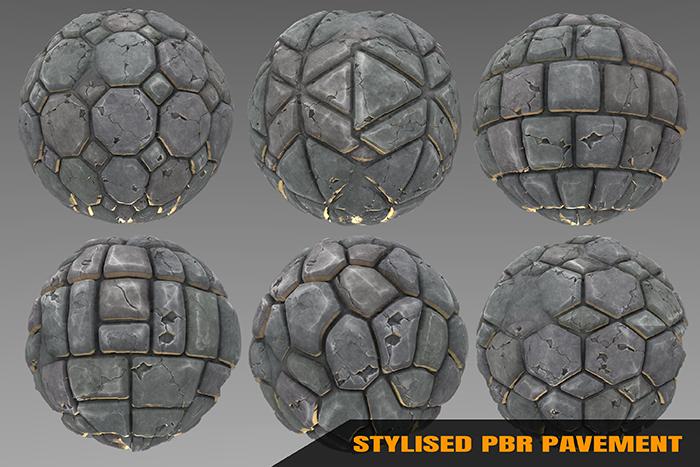Stylized Pavement Materials Vol 01