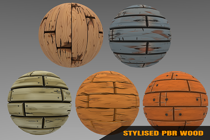 Stylized Wood Materials Vol 01