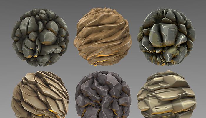 Stylized Rock Materials Vol 02