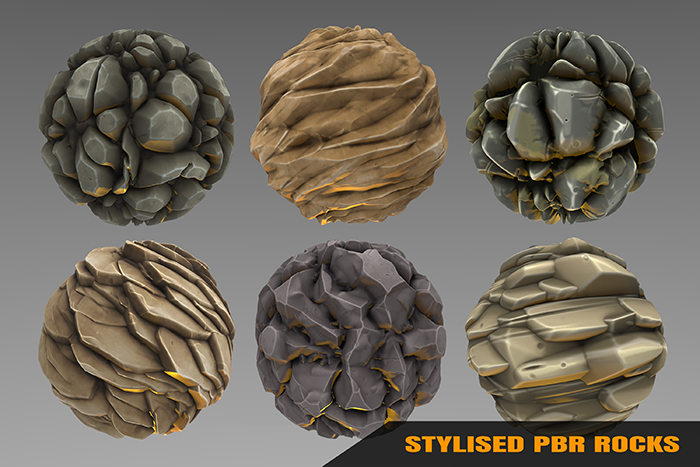 Stylized Rock Materials Vol 02