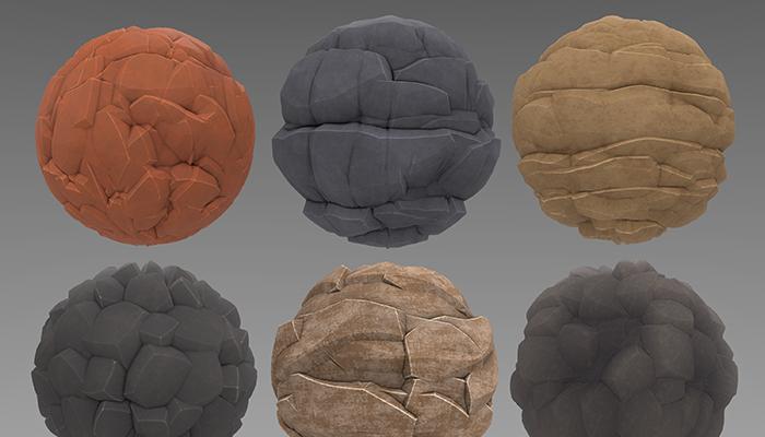 Stylized Rock Materials Vol 01