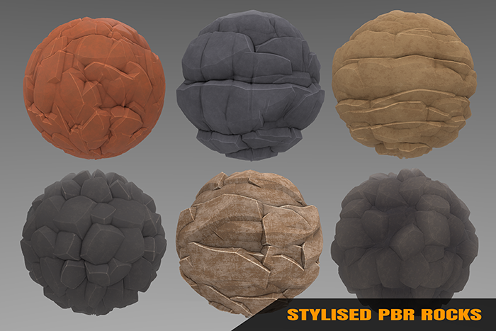 Stylized Rock Materials Vol 01