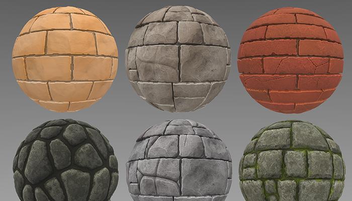 Stylized Bricks and Stone Walls Vol 01
