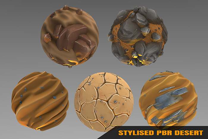 Stylized Desert Materials Vol 01