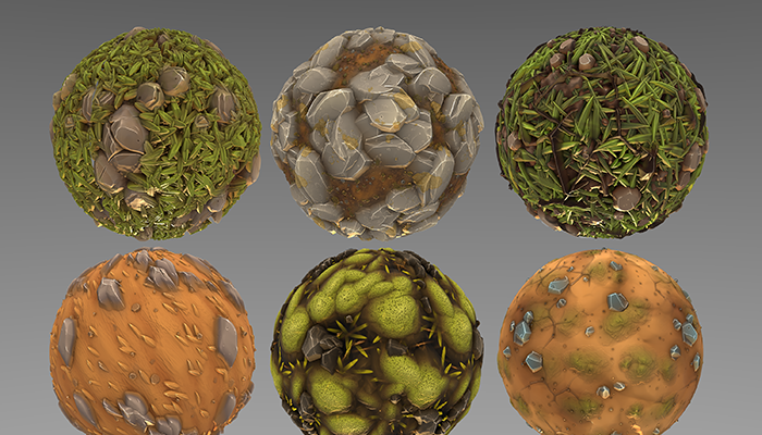 Stylized Forest Ground Materials