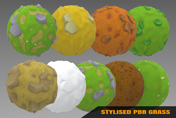 Stylized Grass Materials Vol 01