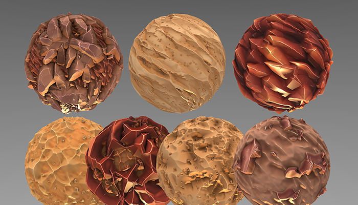 Stylized Fantasy Mars Materials