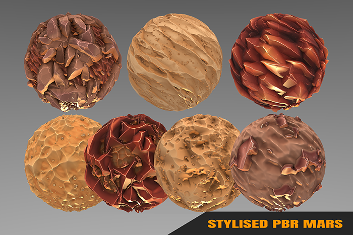 Stylized Fantasy Mars Materials
