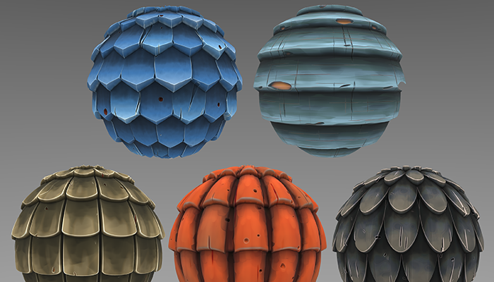 Stylized Roof Materials Vol 01