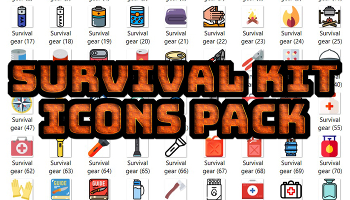 Survival Kit Icons Pack