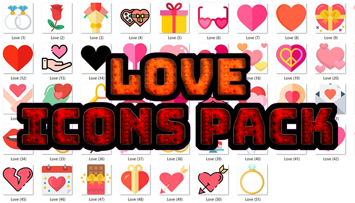 Love Icons Pack