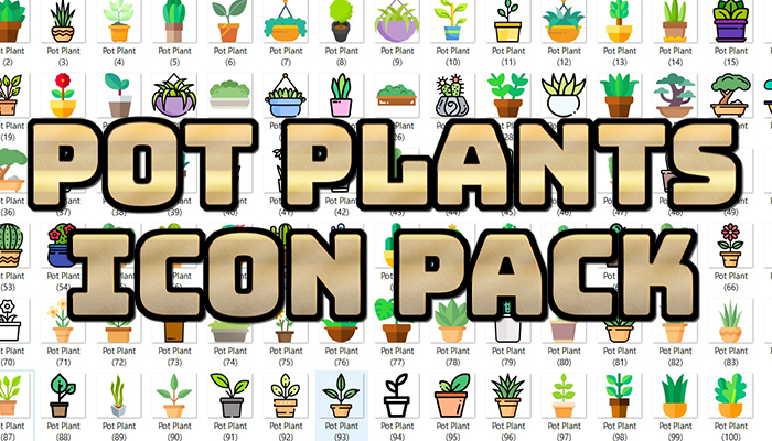Pot Plants Icon Pack