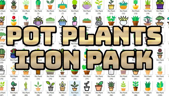 Pot Plants Icon Pack
