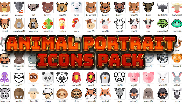 Animal Portrait Icons Pack