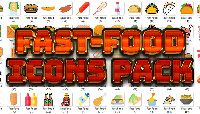 Fast-Food Icons Pack