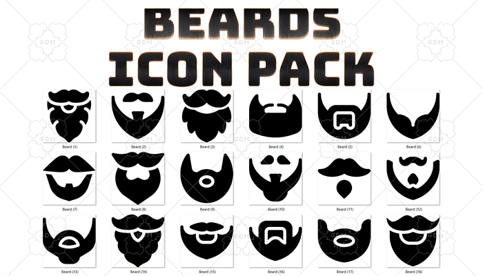 Beards Icon Pack